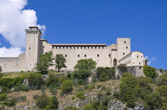 Albornoz fortress. Spoleto. Umbria. Royalty Free Stock Photo