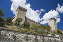 Albornoz fortress. Spoleto. Umbria. Royalty Free Stock Images