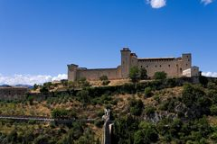 The Albornozian Castle in Spoleto Stock Photos