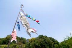 Alboroto de los banderines de la carpa Imagen de archivo