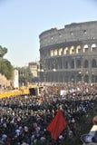 Alborotos en Roma - protesta italiana de los estudiantes Fotos de archivo