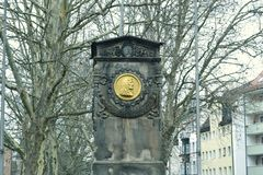 Albrecht Dürer. Monument to the famous German artist on the outskirts of the city Royalty Free Stock Photography