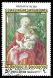 Albrecht Durer Painting Virgin With de Iris stock foto's