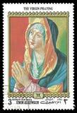 Albrecht Durer Painting The Virgin-het Bidden royalty-vrije stock foto