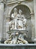 Albrecht Fountain Danubius e il Vindobona a Vienna, Austria Fotografia Stock Libera da Diritti