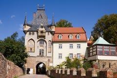 Albrechtsburg城堡的门在Meissen的 免版税库存图片