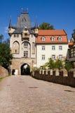 Albrechtsburg城堡的门在Meissen 免版税库存图片