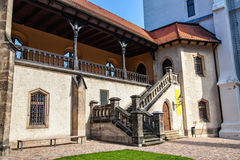 Albrechtsburg是一座晚哥特式城堡 库存照片