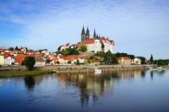 Albrechtsburg and Cathedral in Meissen. Germany Stock Photography