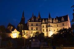 Albrechtsburg e cattedrale Fotografie Stock