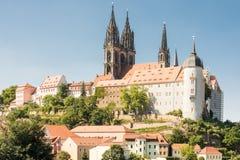 Albrechtsburg i katedra w Meissen Zdjęcia Royalty Free