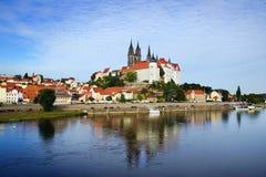 Albrechtsburg i Katedra w Meissen. Niemcy Fotografia Stock