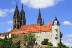 Albrechtsburg i katedra w Meissen, Saxony Zdjęcie Royalty Free