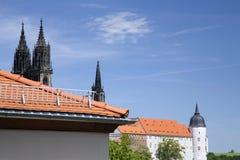 Albrechtsburg kasztelu wierza w Meissen Zdjęcia Royalty Free