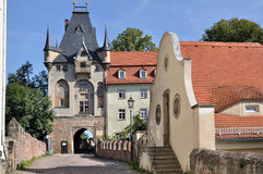 Albrechtsburg's gate, meissen royalty free stock photo