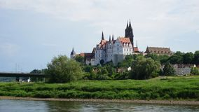 Albrechtsburg in Saksen, Duitsland Stock Afbeeldingen