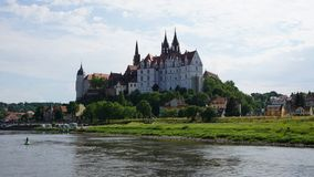 Albrechtsburg in Saksen, Duitsland Stock Foto