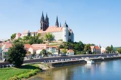 Albrechtsburg und Kathedrale in Meissen Stockfotografie