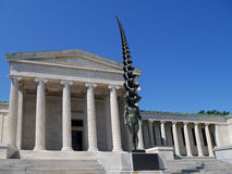 Albright Knox Art Gallery. BUFFALO, USA -  The Albright Knox Art Gallery's external design mimics a Greek Temple, but its collection is devoted primarily to Royalty Free Stock Image