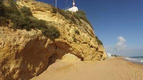 Albufeira, Αλγκάρβε, περιοχή Faro, παραλία της Πορτογαλίας 19 Απριλίου 2016 Albufeira απόθεμα βίντεο