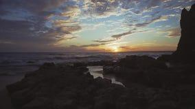 ALBUFEIRA - Θύελλα DA Praia, Αλγκάρβε, Πορτογαλία απόθεμα βίντεο