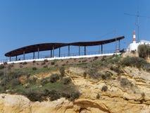 ALBUFEIRA, ALGARVE/PORTUGAL DEL SUD - 10 MARZO: Vista di un Sun Fotografia Stock Libera da Diritti