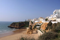 Albufeira Beach. Beach of Albufeira, which is situtated in the region of touristic Algarve in the south coast of Portugal royalty free stock images