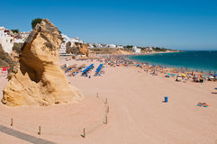 Albufeira beach in Algarve royalty free stock images