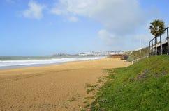 Albufeira Beach. On the Algarve coast of Portugal royalty free stock photos