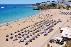 Albufeira Beach in Algrave, Portugal Stock Photos