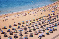 Albufeira Beach in Lagos, Algarve Stock Image
