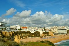 Albufeira Beach in Portugal royalty free stock images