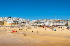 Albufeira beach. Portugal Royalty Free Stock Photos