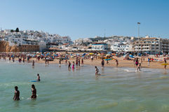 Albufeira beach summertime Royalty Free Stock Images