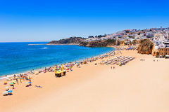 Albufeira city beach Stock Image