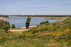 Albufeira da Barragem de Campilhas lake Royalty Free Stock Images