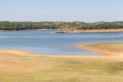 Albufeira da Barragem de Campilhas lake Royalty Free Stock Image