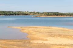 Albufeira da Barragem de Campilhas lake royalty free stock photos
