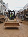 Albufeira dopo la grande inondazione fotografia stock libera da diritti