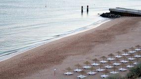 Albufeira fishermen beach scenario (Praia dos pescadores, Algarv Royalty Free Stock Images