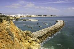Albufeira fishermen Marina and beach, Algarve. Stock Photo