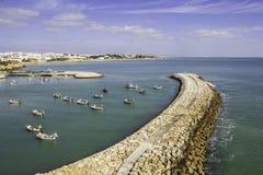 Albufeira fishermen Marina and beach, Algarve. Albufeira fishermen Marina and beach, Algarve, Portugal stock photography