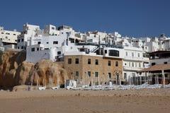 albufeira mieści Portugal biel zdjęcia stock