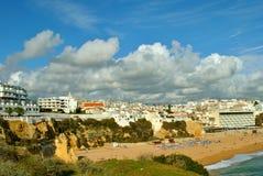 Albufeira plaża w Portugalia obrazy royalty free