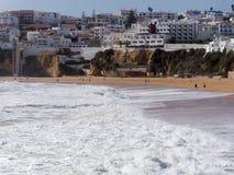 ALBUFEIRA, POŁUDNIOWY ALGARVE/PORTUGAL - MARZEC 10: Widok być Fotografia Royalty Free