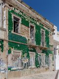 ALBUFEIRA, SOUTHERN ALGARVE/PORTUGAL - MARCH 10 : View of a Derelict Building at Albufeira in Portugal on March 10, 2018 stock image