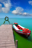 Albufera lake boat jetty in Valencia El Saler Royalty Free Stock Photos