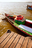 Albufera lake traditional boats in Valencia Royalty Free Stock Photography