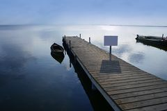 Albufera lake wetlands pier in Valencia Spain Royalty Free Stock Photo