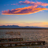 Albufera sunset lake park in Valencia el saler Stock Photos